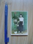 老照片:女士(或女学生)彩色照片(估计是民国后期)