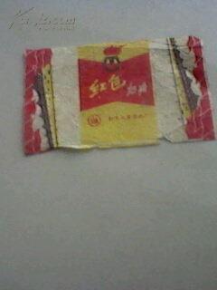 文革糖标--红色奶糖(带有火炬)