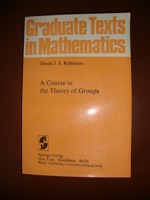 A Course in the Theory of Groups