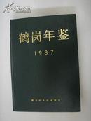 鹤岗年鉴  (精装本1987)