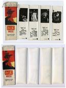 红岩插图书签 4枚一套 带外套 五六十年代 文人雅士商务外事办公学生礼品 假一赔十!