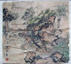名人字画:(已故上海美术家协会主席、海派书画名家)沈柔坚《1971年手绘●园林写生画稿》。