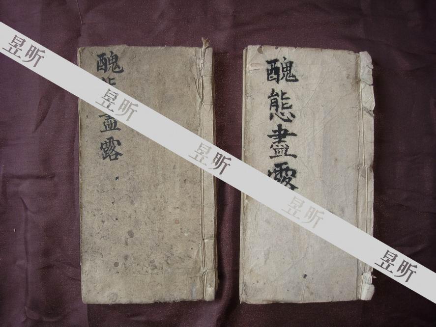清末民初孙立冕《醜態盡露》诗、文稿本2册