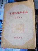 中国历史纪年表(1956年版)