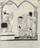 連環畫原畫稿:王又文繪《金喇叭》(含扉頁設計共8頁 該連環畫刊載于《故事畫報》1986年第5期)