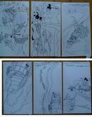 連環畫原畫稿:葉毓中《芙蓉緣》 全23頁(彩色封面1張、彩色畫稿12張、黑白畫稿10張)刊載于《故事畫報》1987年第9期