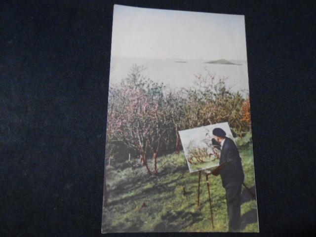 画家在太湖边写生