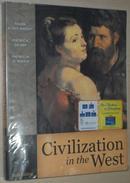 英文原版书 Civilization in the West, Volume I  II