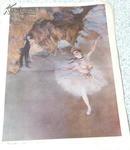 舞台上的舞女(色粉画)一八七八 德加(法国)初中课本 历代美术作品欣赏 4开 81年1版