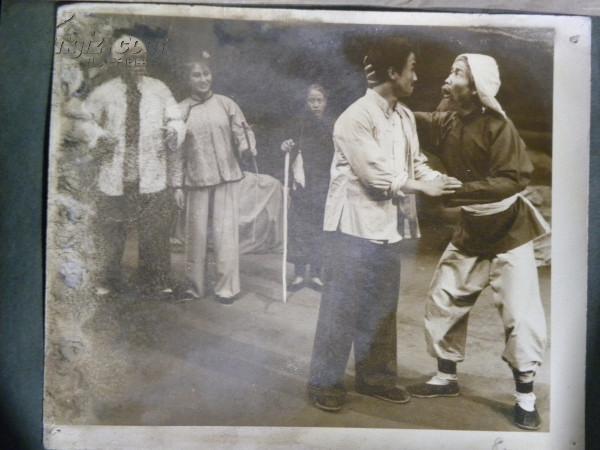 1964年山西省现代戏观摩演出《赤叶河》山西省灵丘罗罗腔剧团演出剧照(6寸)