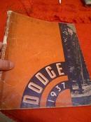 dodge 1937 画册  12开本! 内多老爷车,老轿车 老汽车图片!