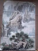 水墨山水画一幅 :67.2×100厘米