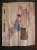 文革宣传画稿   工笔人物  大约4平尺