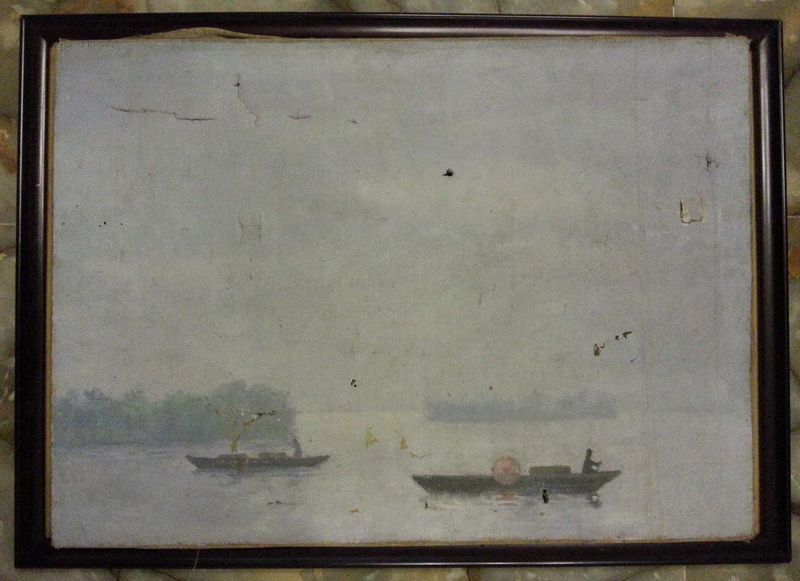 当代实力派油画大师刘溯早期1991年油画作品