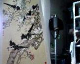 1979年挂历  陈之佛画鸟  玉兰喜鹊