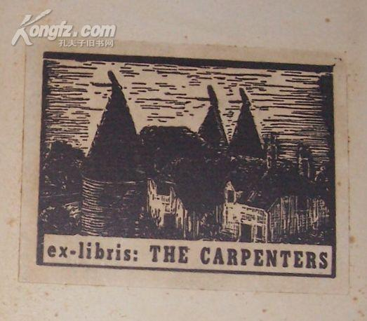 附 卡朋特  the carpenters 精美藏书票  a bachelor\'s establishment