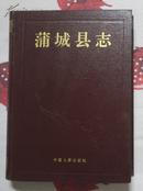 蒲城县志【精】精装大16开93年一版一印3200册九品