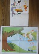 战胜大灰狼)4开/1幅/8开/1幅/合售(幼儿园看图讲述教育挂图 大班 第二辑 13(11))