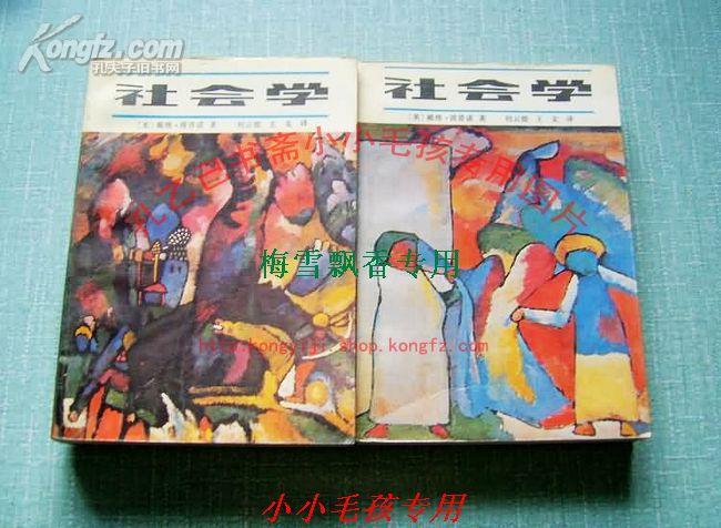 社会学上下两册全 戴维.波普诺 88年绝版保原版正版