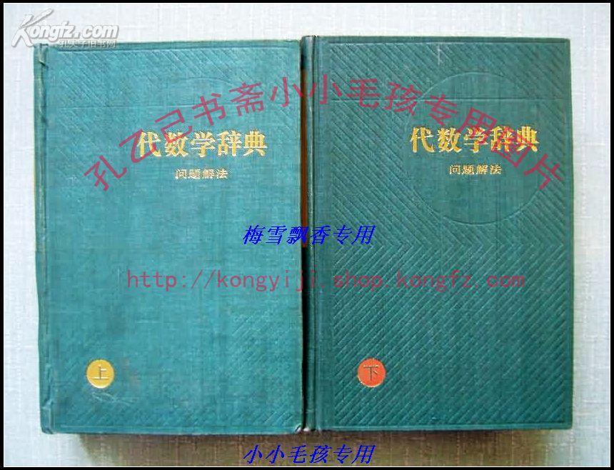 代数学辞典:问题解法 笹部贞市郎 (精装上下册全)  保85年绝版库存正版WM  现货