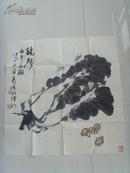 韩文来(许鸿宾合作):画:秋声/天津美术学院教授/中国美术家协会、书法家协会会员、天津美术家协会理事(带《韩文来画集》)(补图)