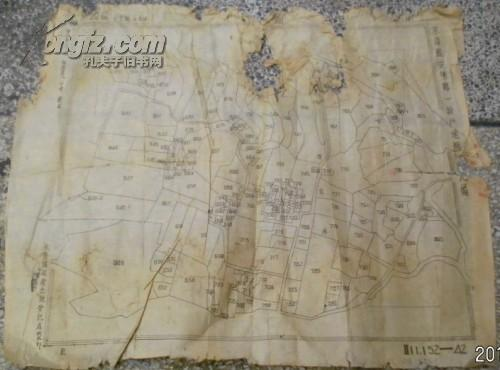 永嘉县安乐乡一段户地图第九幅/第四区安乐乡布袋垟实测户地图/梯尺一千分之一