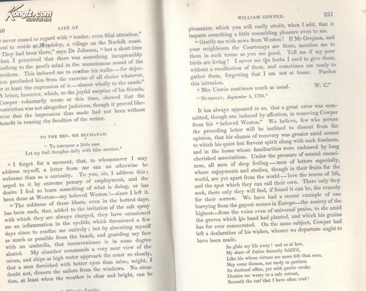 买满就送   英国著名诗人威廉库柏的生活