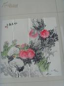 公丕炎:画:仁者寿/高级美编,山东省国家一级美术师,中国美协会员,中国版画家协会
