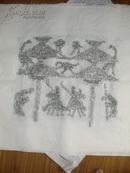 邹城精品汉画像石珍稀拓片《神阙凤凰人物出城图》保真包邮