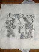 邹城精品汉画像石珍稀拓片《神树鸠杖神人孩童图》保真包邮