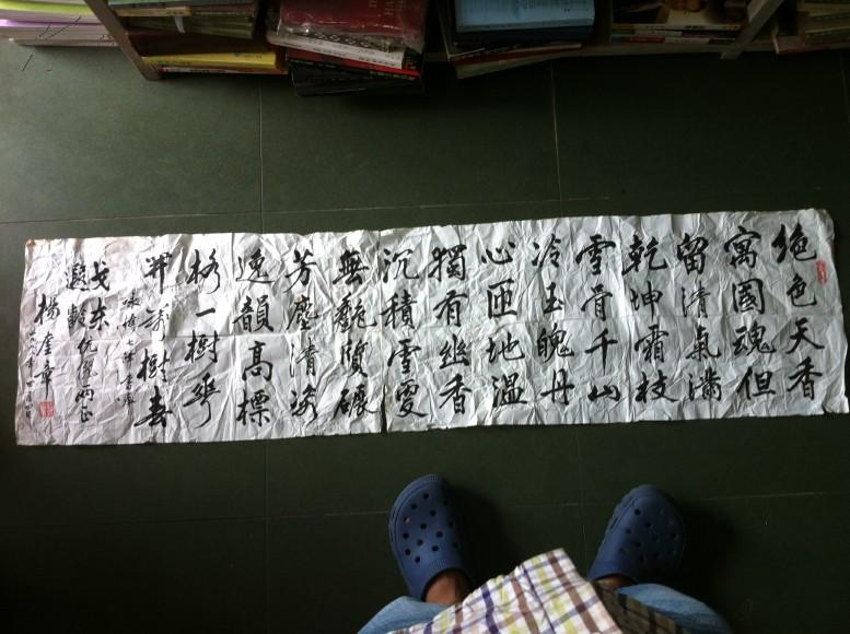杨奎章书法 (长 133cm *  宽 34cm)