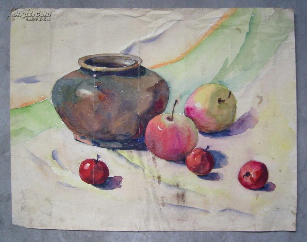 中国第一代女油画家◆关紫兰《水彩画原稿》◆近现代名家老水彩画、手绘名人老字画真迹◆