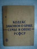俄罗斯苏维埃联邦社会主义共和国婚姻家庭及监护