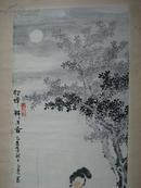 国画仕女画: 貂蝉拜月图  吴正肃