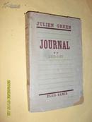 法文原版     1946年版 毛邊本       JULIEN GREEN JOURNAL 1935-1939