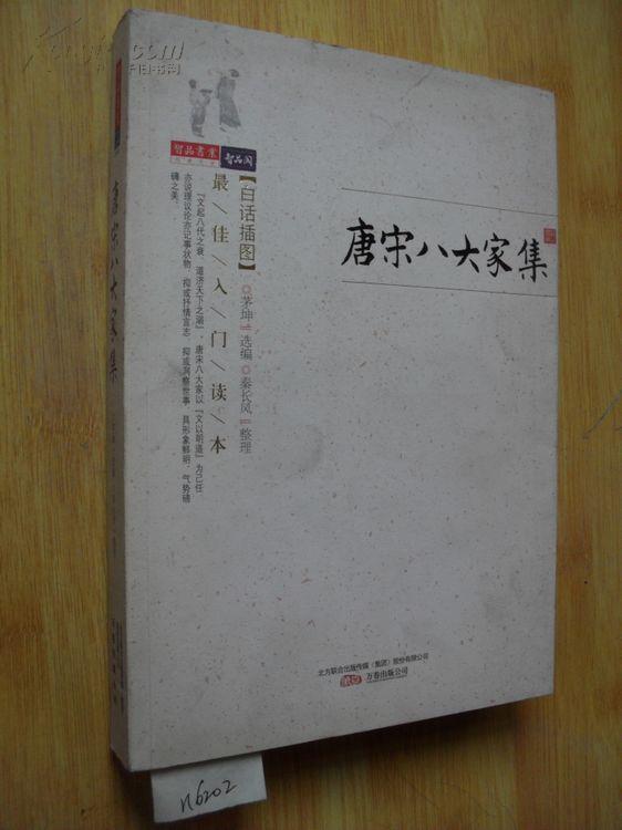 唐宋八大家集 白话插图 茅坤 最佳入门读本 n6202