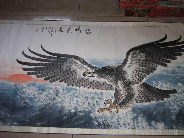 中国当代著名书画家-------马兴祥绘画作品《鹍鹏展翅》