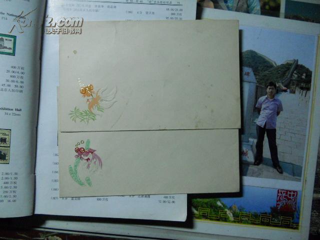特38金鱼邮票同期同题材信封两枚