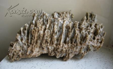 天然奇石观赏石造型石案头石戈壁石风凌石风砺石摆件收藏品:万仞向天
