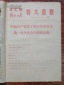 文汇报 解放日报 特大喜报,1973年8月30日(中国共产党第十届中央委员会第一次全会新闻公报,选举了中央机构)