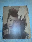 民国老照片:妇女照片 手工上色     12.2*9.7厘米