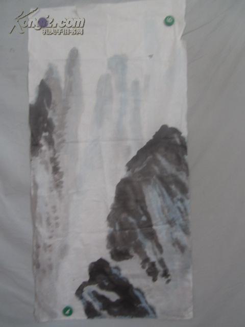 山水 国画一张  98*49厘米