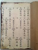 珍贵清代南音曲目手抄本,四册合售。