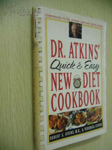 Dr. Atkins\' Quick & Easy New Diet Cookbook【英文原版】