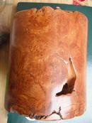 带花纹的影子木--【【上世纪八九十年代--笔筒】】高10.3--直径9.5厘米