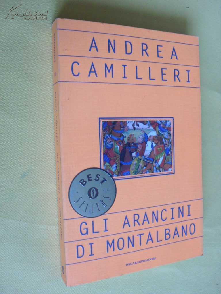 意大利文原版  Gli arancini di Montalbano。        Andrea Camilleri