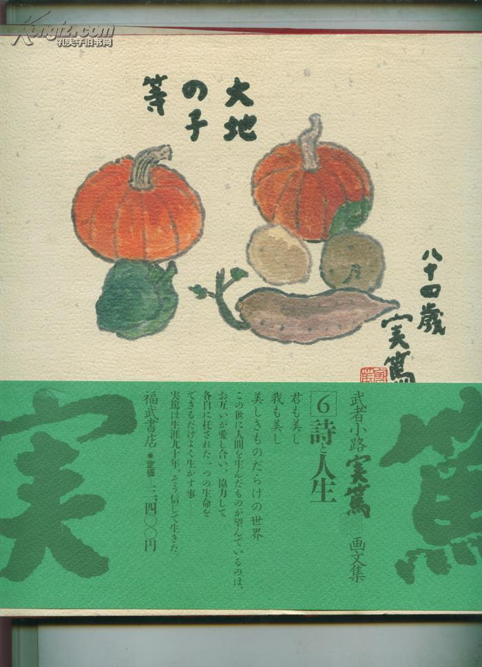 武者小路写实画文集-第6 诗 人生(日文原版凸版印刷)      ----  【包邮-挂】