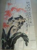 范世安(范士安/禅寿):画:花鸟画之二(六尺)中国美术家协会,省美术家分会,中国国画家协会会员