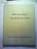 2003。衡水市桃城区抗击非典斗争大事记
