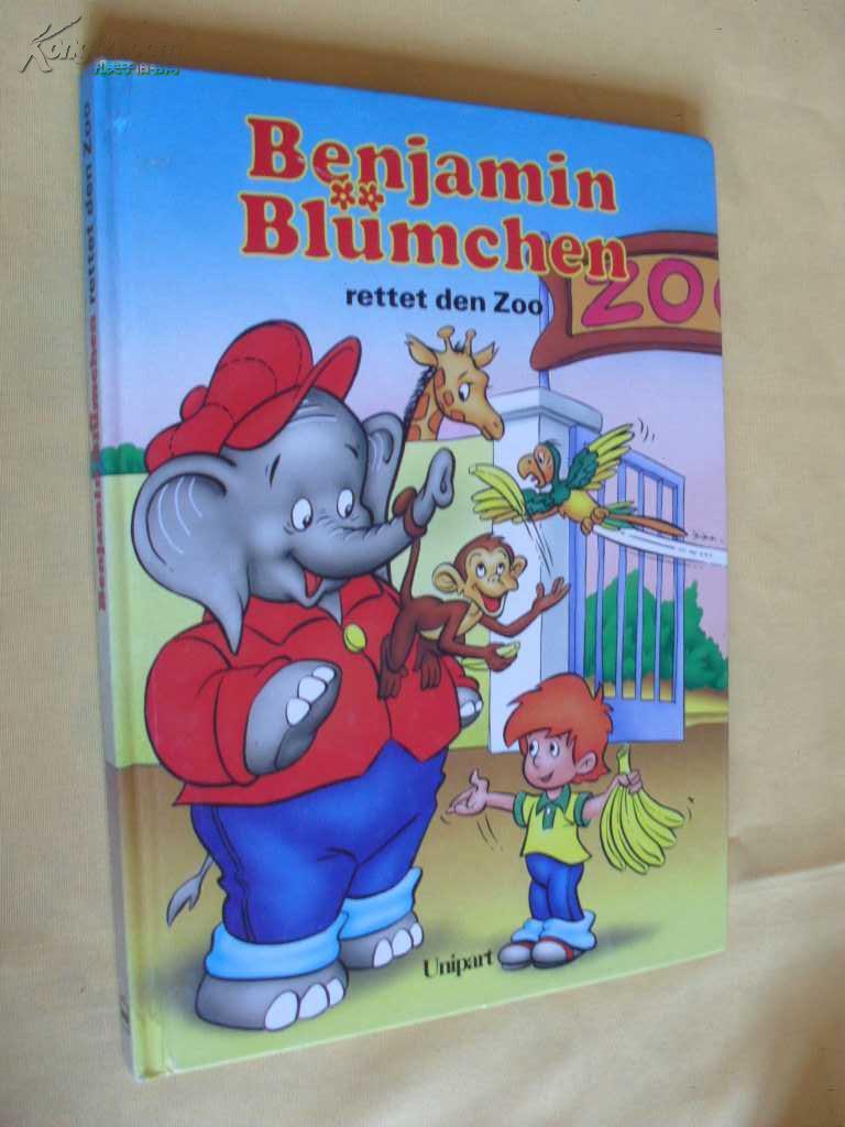 德文原版  Benjamin Blümchen        rettet den  Zoo